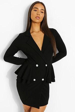 Scuba Frill Blazer Dress