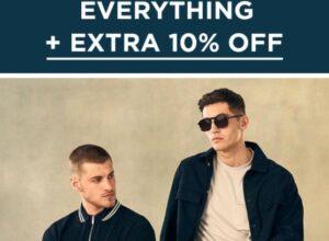 Скидка 50% на мужскую одежду Burton London