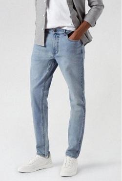 Blue Light Wash Skinny Jeans