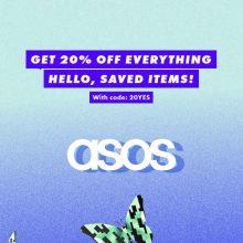 Скидка ASOS 20% на все товары